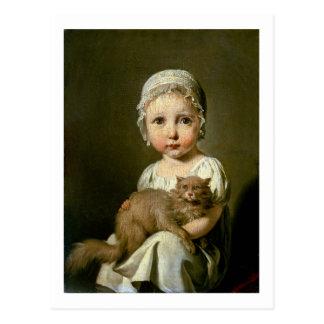 Gabrielle Arnault (1811-72) 1813 (aceite en lona) Postal