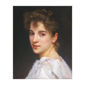 Gabrielle Cot by William Adolphe Bouguereau 1890 Canvas Print