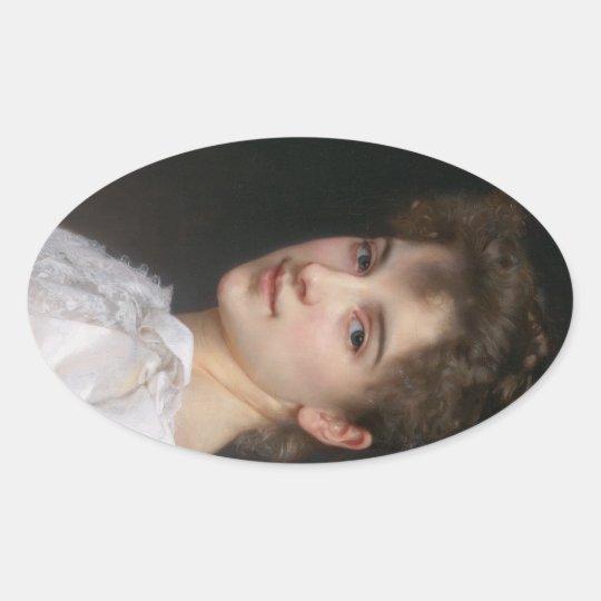 Gabrielle Cot Oval Sticker