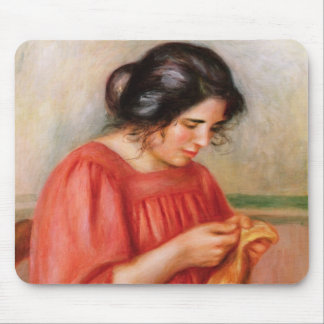 Gabrielle darning, 1908 mouse pad