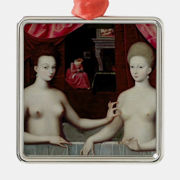 Gabrielle d'Estrees  and her sister Metal Ornament