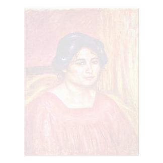 Gabrielle en una blusa roja de Pierre-Auguste Membrete Personalizado