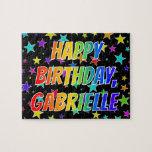 "[ Thumbnail: ""Gabrielle"" First Name, Fun ""Happy Birthday"" Jigsaw Puzzle ]"