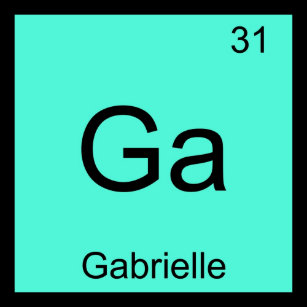 Baby name gabrielle gifts on zazzle gabrielle name chemistry element periodic table keychain urtaz Images