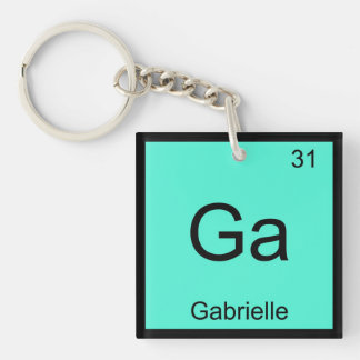 Gabrielle  Name Chemistry Element Periodic Table Keychain