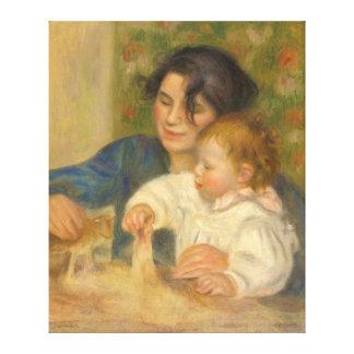 Gabrielle Renard and infant son, Jean by Renoir Canvas Print