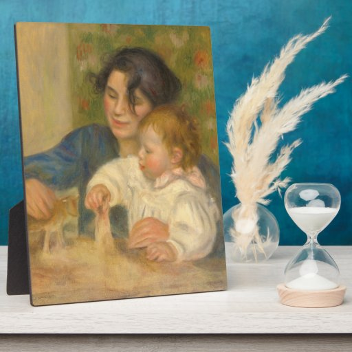 Gabrielle Renard and infant son, Jean by Renoir Photo Plaques