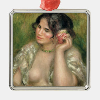 Gabrielle with a Rose, 1911 Christmas Tree Ornament