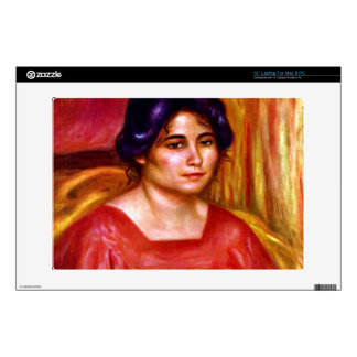 """Gabrielle with red blouse by Pierre Renoir Decals For 13"""" Laptops"""