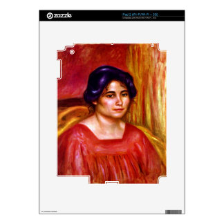Gabrielle with red blouse by Pierre Renoir iPad 2 Decal