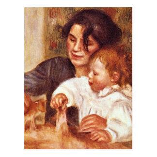 Gabrielle y Jean de Pedro Renoir Postales
