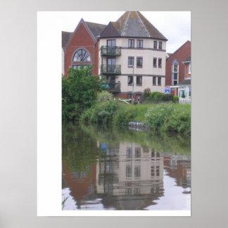 Gabriel's Wharf Exeter Devon Poster