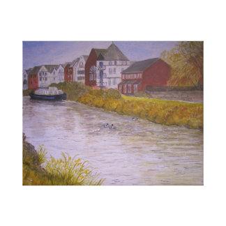 Gabriels Wharf, The Quay, Exeter Canvas Print