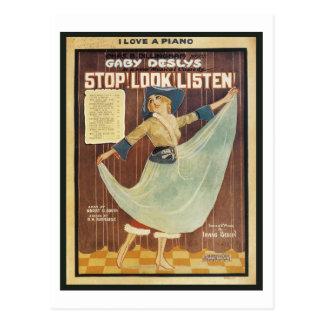 Gaby Deslys Stop! Look! Listen! Vintage Songbook C Postcards
