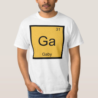 Gaby Name Chemistry Element Periodic Table Tee Shirt