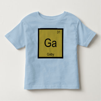 Gaby Name Chemistry Element Periodic Table Tee Shirts