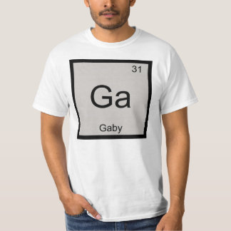 Gaby Name Chemistry Element Periodic Table Tshirts