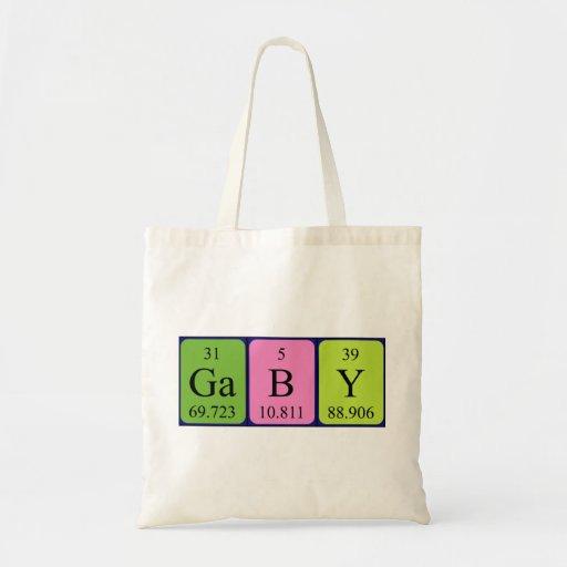 Gaby periodic table name tote bag