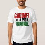 Gaddafi es un criminal de guerra playera