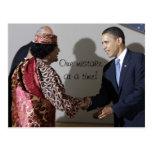 Gaddafi Gadhafi Obama un error en ese entonces Tarjetas Postales