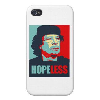 GADDAFI IS HOPELESS iPhone 4 CASES