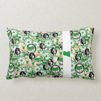 Gaddafi Stickerbomb Pillow
