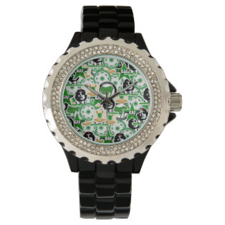Gaddafi Stickerbomb Wrist Watch
