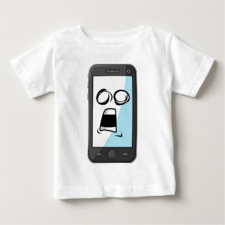 Gadget with Funny Expression - Smartphone Baby T-Shirt