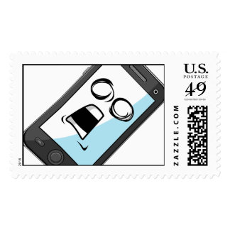 Gadget with Funny Expression - Smartphone Postage
