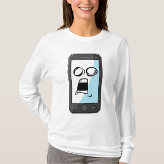 Gadget with Funny Expression - Smartphone T-Shirt