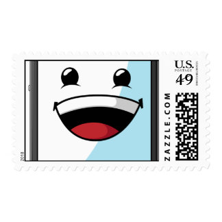 Gadget with Funny Expression - Tablet Postage Stamp