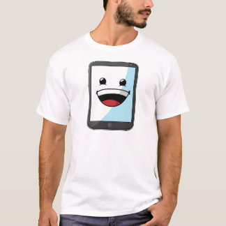 Gadget with Funny Expression - Tablet T-Shirt