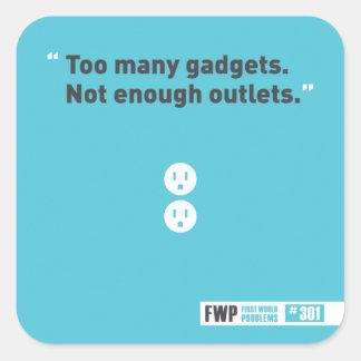 Gadgets Square Sticker