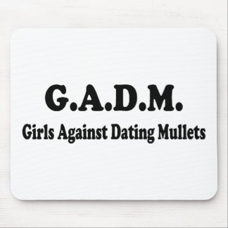 GADM Girls Against Dating Mullets Mouse Pad