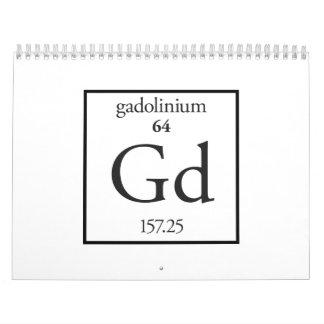 Gadolinio Calendarios De Pared