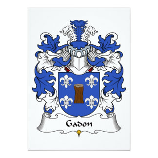 Gadon Family Crest Card