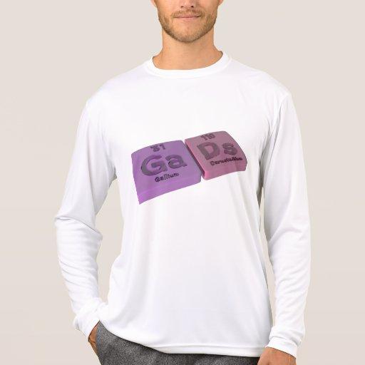 Gads como el galio y Ds Darmstadtium del GA Camisetas
