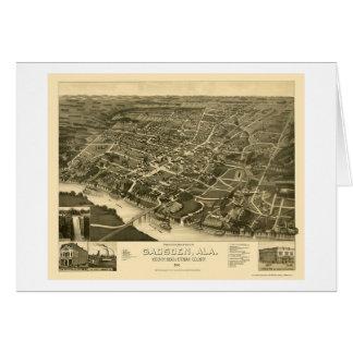 Gadsden, AL Panoramic Map - 1887 Card
