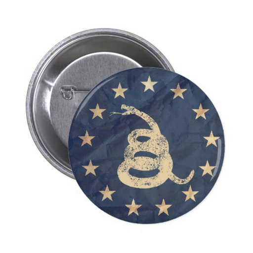 Gadsden and US 1776 Flag Button