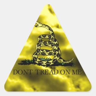 Gadsden arrolló la serpiente en las nubes de colcomanias de triangulo personalizadas