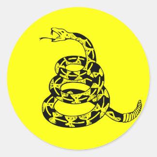 Gadsden Coiled Rattlesnake Classic Round Sticker