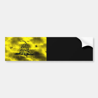 Gadsden Coiled Snake On Storm Clouds Bumper Sticker