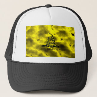 Gadsden Coiled Snake On Storm Clouds Trucker Hat