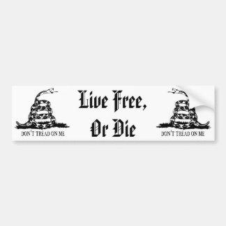 Gadsden - Don't Tread on Me, Live Free or Die Bumper Sticker