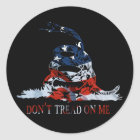 Gadsden - Don't Tread on Me Red, White and Blue Classic Round Sticker