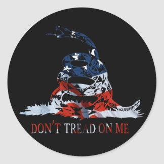 Gadsden - Don't Tread on Me Red, White and Blue Stickers