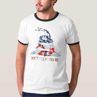 Gadsden - Don't Tread on Me Red, White and Blue T-shirt