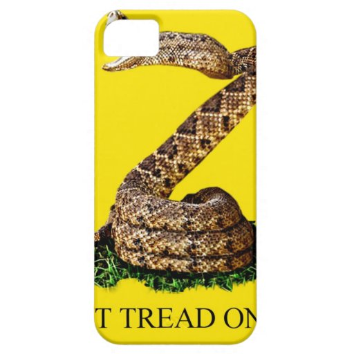 Gadsden Flag 2013 - Don't Tread on Me (Square) iPhone 5 Cases