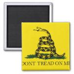 Gadsden flag 2 inch square magnet