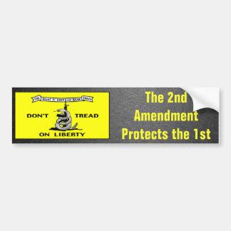 Gadsden Flag 2nd Amendment Political Bumper Sticker
